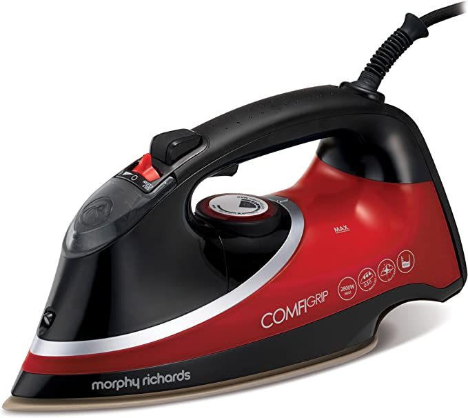 Morphy Richards Comfigrip Steam Iron 303118 Red Black Steam Iron [Energy Class A]