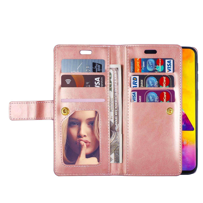 9 Kartenf/ächer Felfy Kompatibel mit Galaxy A20 H/ülle,Kompatibel mit Galaxy A20 Case Leder Magnetische Flip Case PU Leder Brieftasche Handyh/ülle Multifunktions Tasche Klapph/ülle Schutzh/ülle,Gr/ün