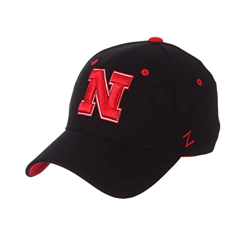 buy popular fa875 502ac ... store zephyr mens nebraska cornhuskers zh zwool stretch fit hat black  b3ee4 b826a