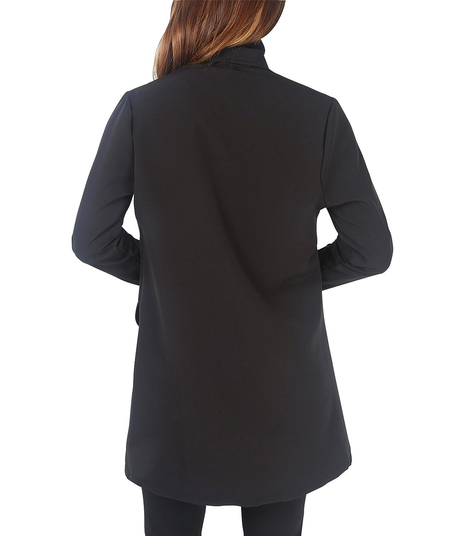 KRISP Women Tailored Oversized Button Long Blazer Coat Jacket