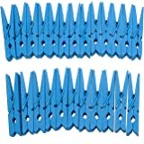"""Derker Wood Craft Clothespins,Bright Colored Clothes Pegs Pins - 24 Piece (2.9"""") (Blue)"""