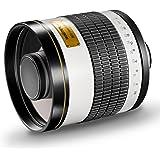 Walimex Pro 800mm 1:8,0 DSLR-Spiegelobjektiv für Canon EF Objektivbajonett weiß (manueller Fokus, für Vollformat Sensor gerechnet, Filterdurchmesser inkl. Schutzdeckel und Objektivbeutel)