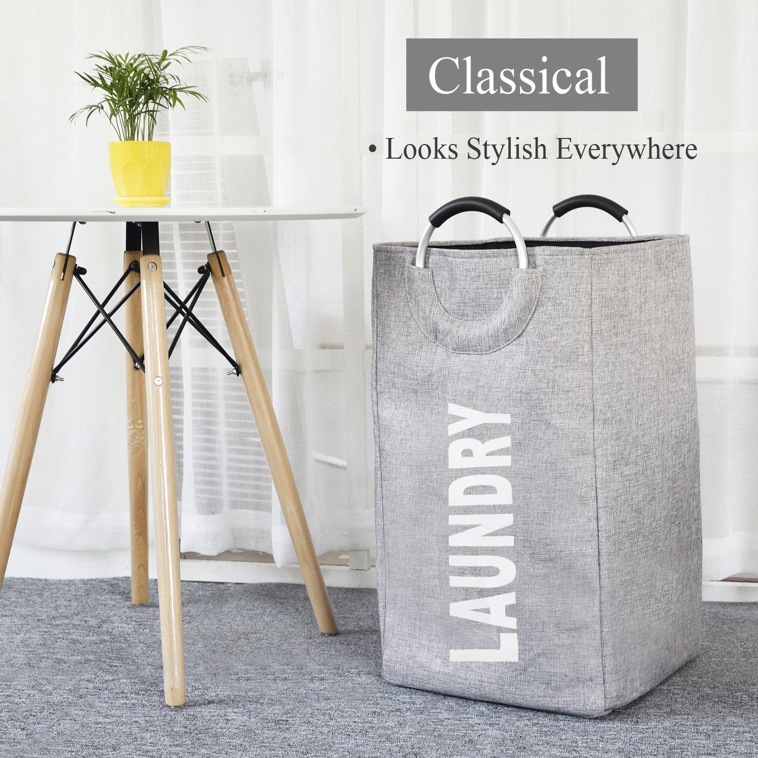 22/' Tall Large Round Laundry Hamper for Clothes Storage 22/'/' Tall Large Round Laundry Hamper for Clothes Storage Smart Storage Haundry Collapsible Laundry Basket