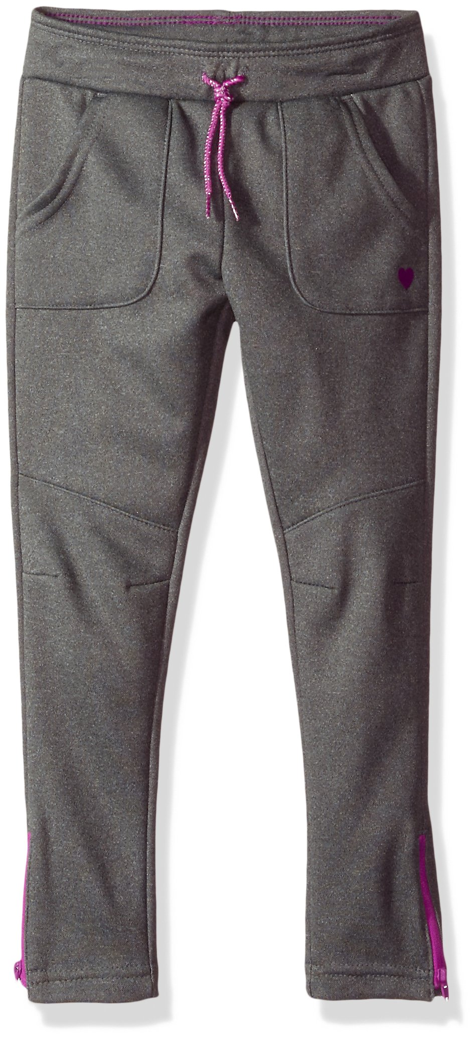 OshKosh B'Gosh Girls' Toddler Fleece Jogger Pants, Grey, 3T by OshKosh B'Gosh (Image #1)