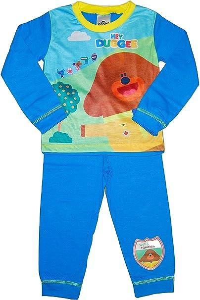 Boys Kids Hey Duggee Pyjamas Nightwear PJs 18 Months to 5 Years Long Sleeve