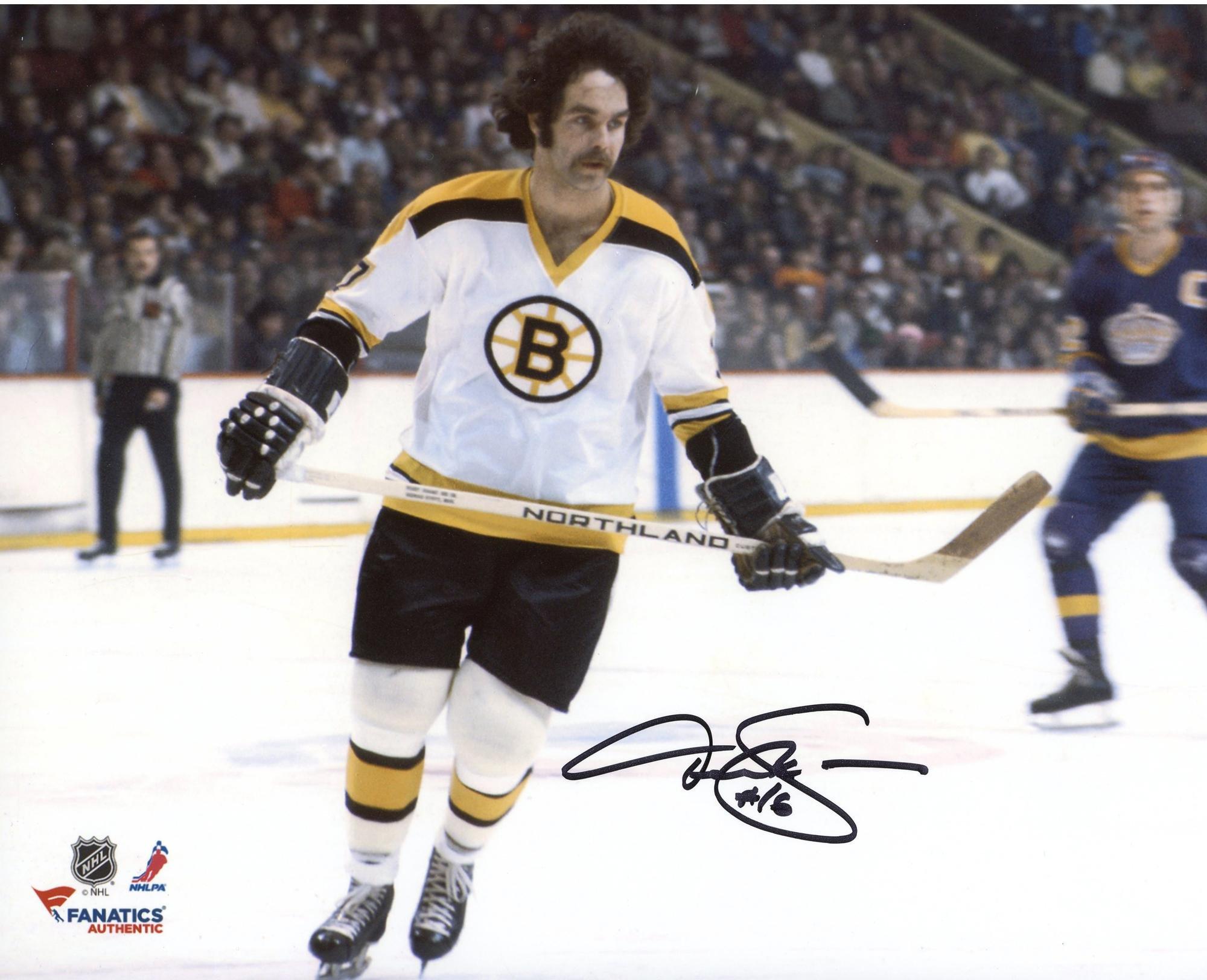 """Derek Sanderson Boston Bruins Autographed 8"""" x 10"""" White Horizontal Photograph Fanatics Authentic Certified"""