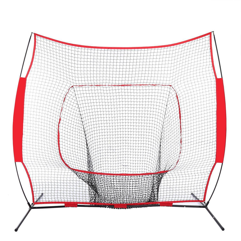 n-bright shop Net Baseball Softball Batting Practice Hitting Training Frame Cage 7x7 Ft Bow Frame W/Bag by n-bright shop