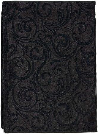 R/éf Lot de 2 unit/és Chemin de table luxe Noir lignes Anti taches r/ésistant
