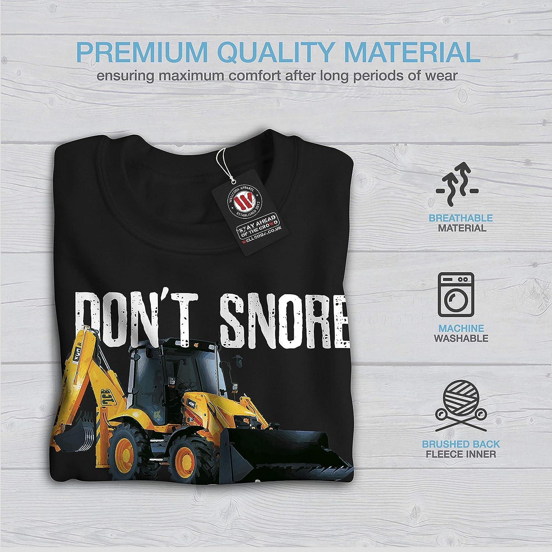 wellcoda I Dont Snore Tractor Mens Sweatshirt Farmer Casual Jumper