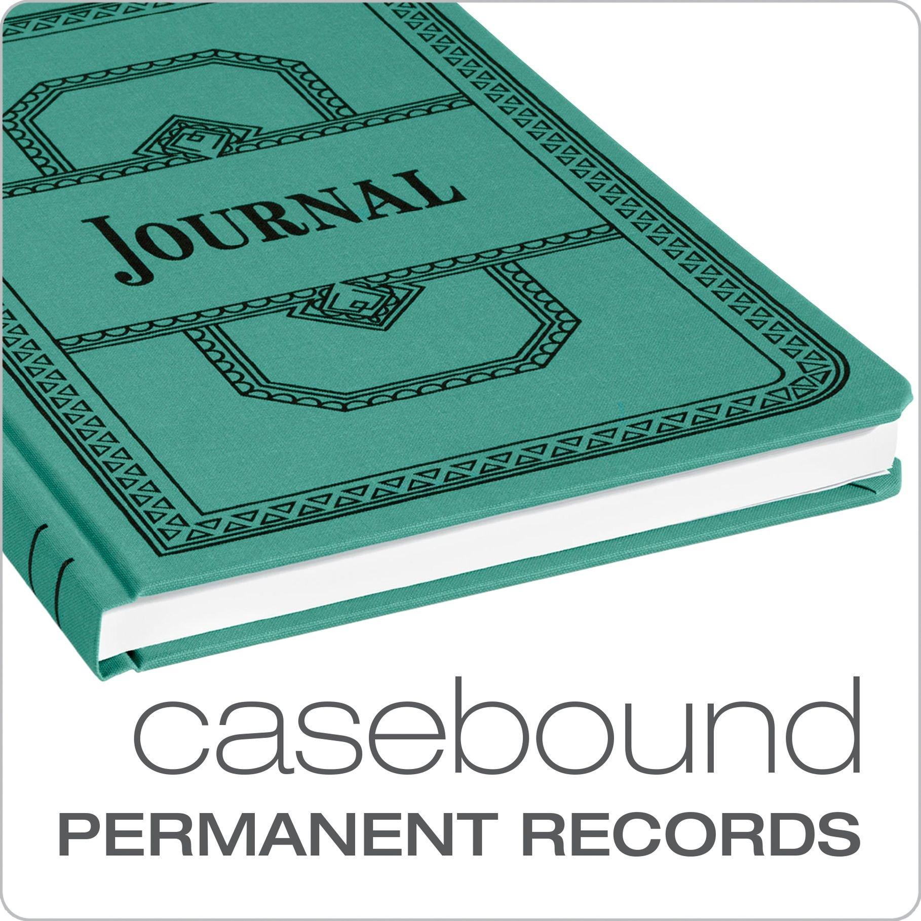 Boorum & Pease 66 Series Account Book, Journal Ruled, Green, 500 Pages, 12-1/8'' x 7-5/8'' (66-500-J) by Boorum & Pease (Image #2)