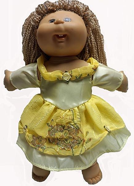 Amazon.com: Vestido de princesa amarilla inspirado en la ...