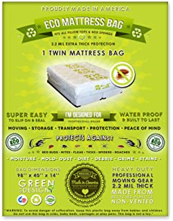 2 twin size mattress bags fits all pillow tops and box springs ideal for - Mattress Bags