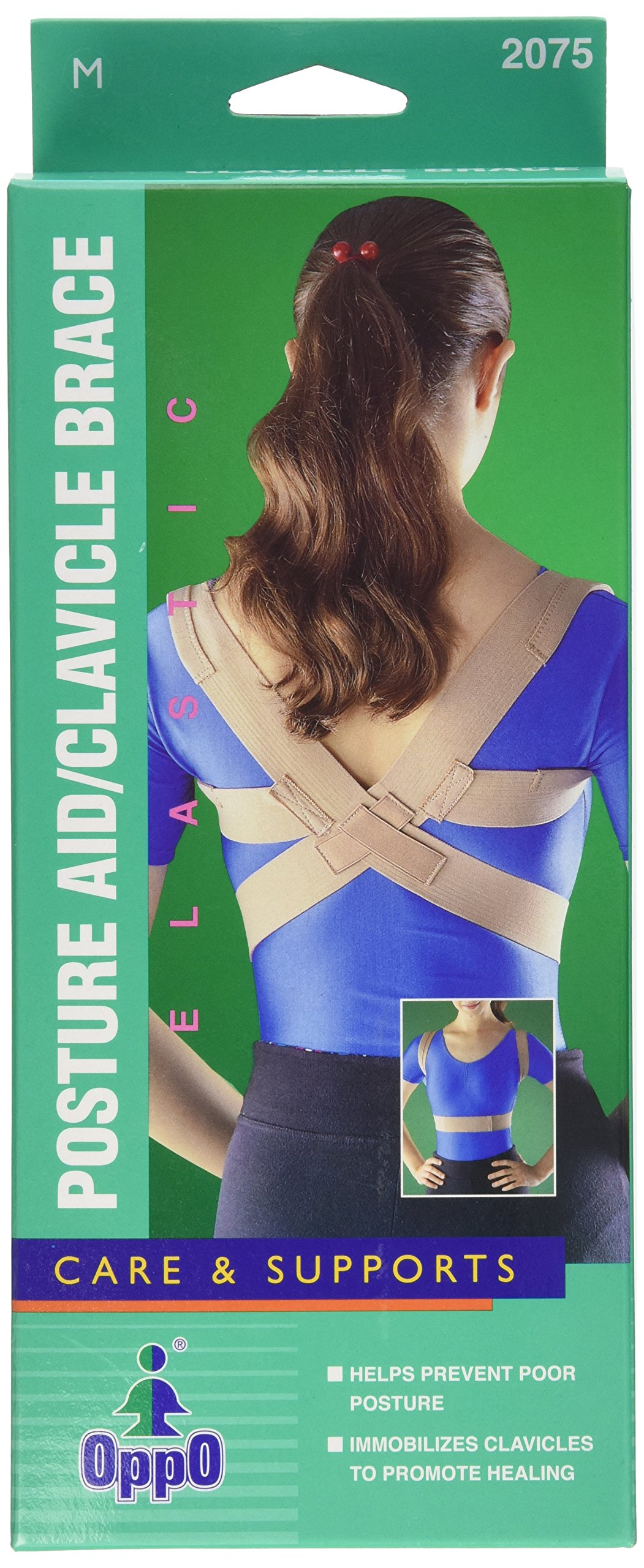 Oppo Medical Elastic Posture Aid /Clavicle Brace (Unisex; Natural), Large