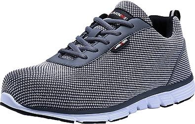 LARNMERN Steel Toe Shoes Men Safety