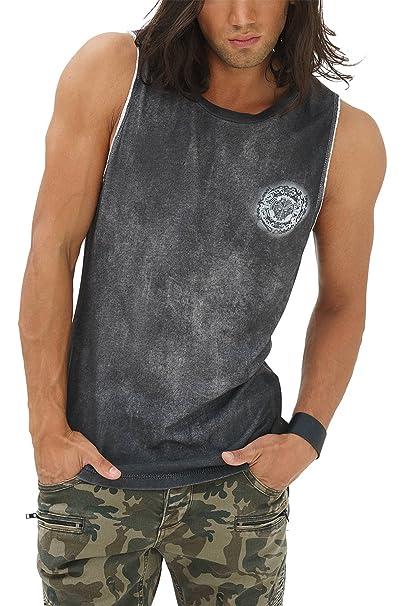 trueprodigy Casual Hombre Marca Camiseta De Tirantes Estampado Ropa Retro Vintage Rock Vestir Moda Cuello Redondo