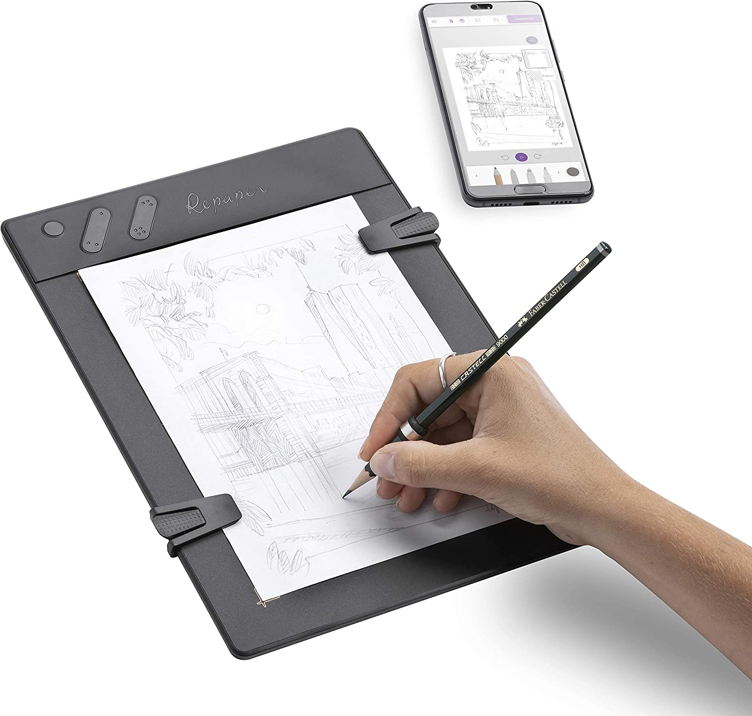 iskn Repaper - Pencil & Paper Graphic Tablet with 8192 Pressure Levels - Faber-Castell Limited Edition