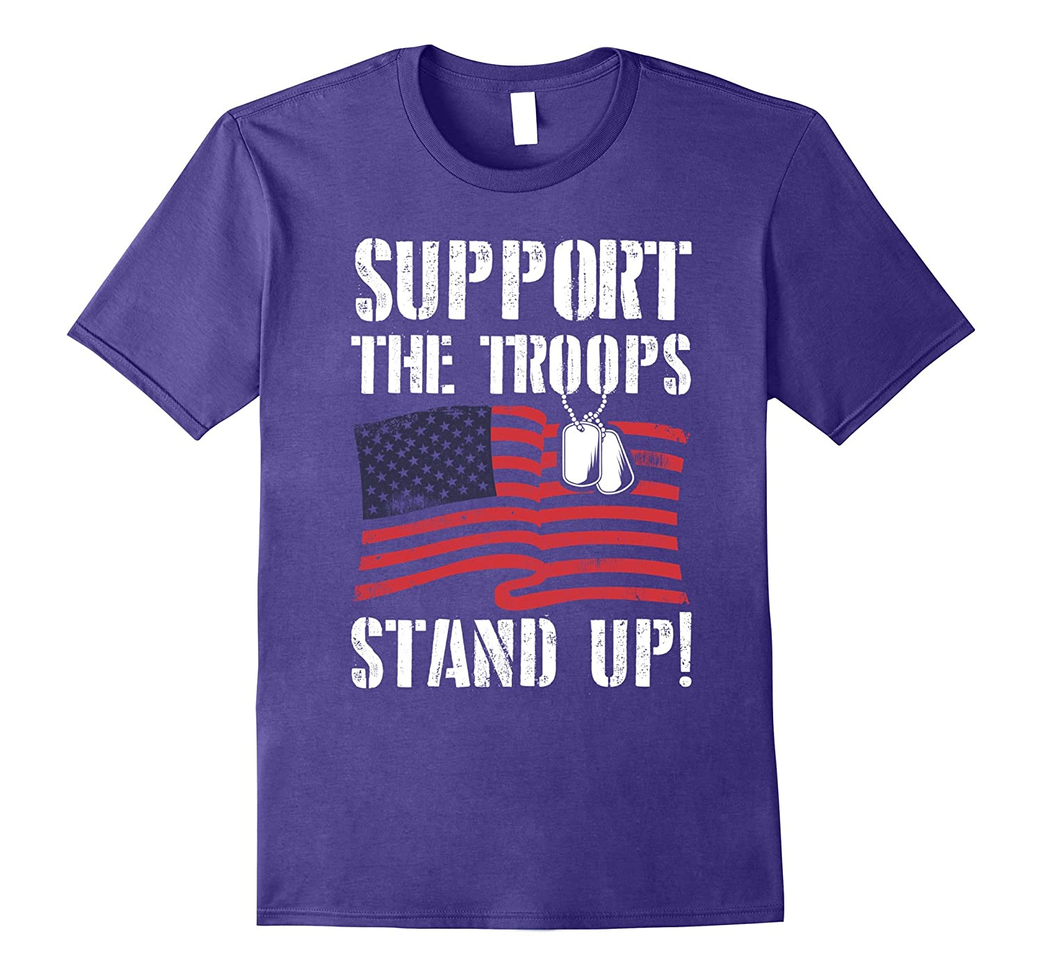 I Don't Kneel - Support The Troops Stand Up T-Shirt-BN