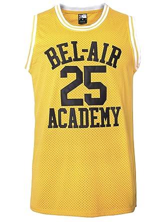 MOLPE Carlton Banks  25 Bel Air Academy Basketball Jersey S-XXXL Yellow (S 481656c36c2f