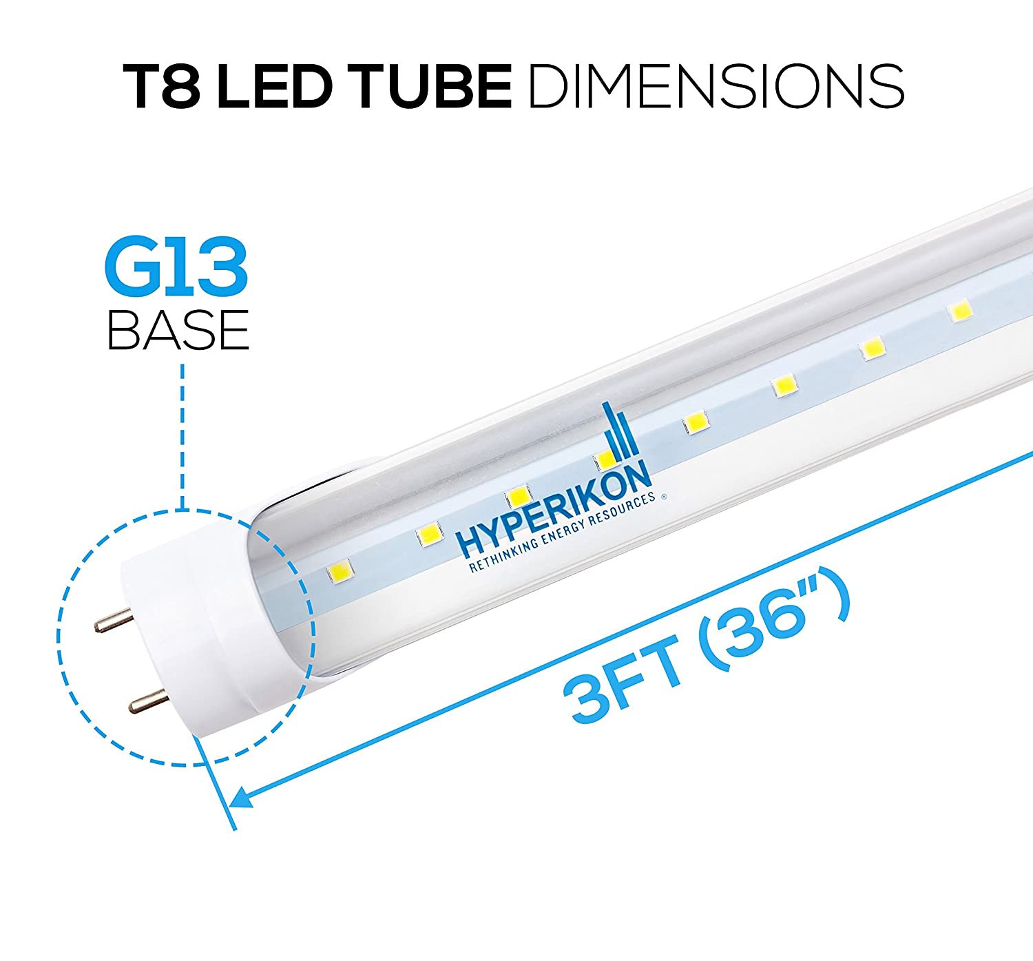Excellent Hyperikon T8 Led Tube 3Ft Light 14W 30W 40W Equiv Ballast Wiring Digital Resources Arguphilshebarightsorg