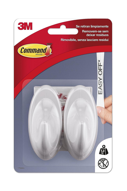 2 Color Blanco Perla Command UU001563046 Pack de 2 Ganchos medianos