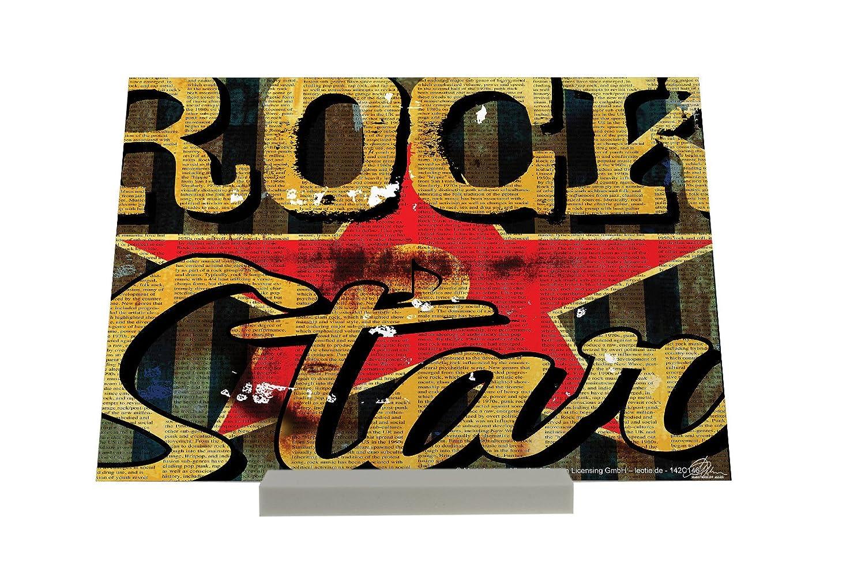 impresión del arte Soporte Fotografias Refranes M.A. Allen Rockstar Letrero Nostálgica: Amazon.es: Hogar