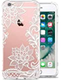 GREATRULY Floral Clear iPhone 6S Case iPhone 6 Case for Women/Girls, Pretty Phone Case for iPhone 6S / 6,Flower Design Transparent Soft TPU Shock Absorption Bumper Cushion Silicone Cover Shell,FL-S