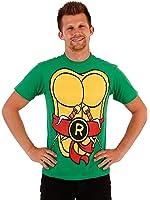 TMNT Teenage Mutant Ninja Turtles Raphael Costume Flip Green Adult T-shirt Te...