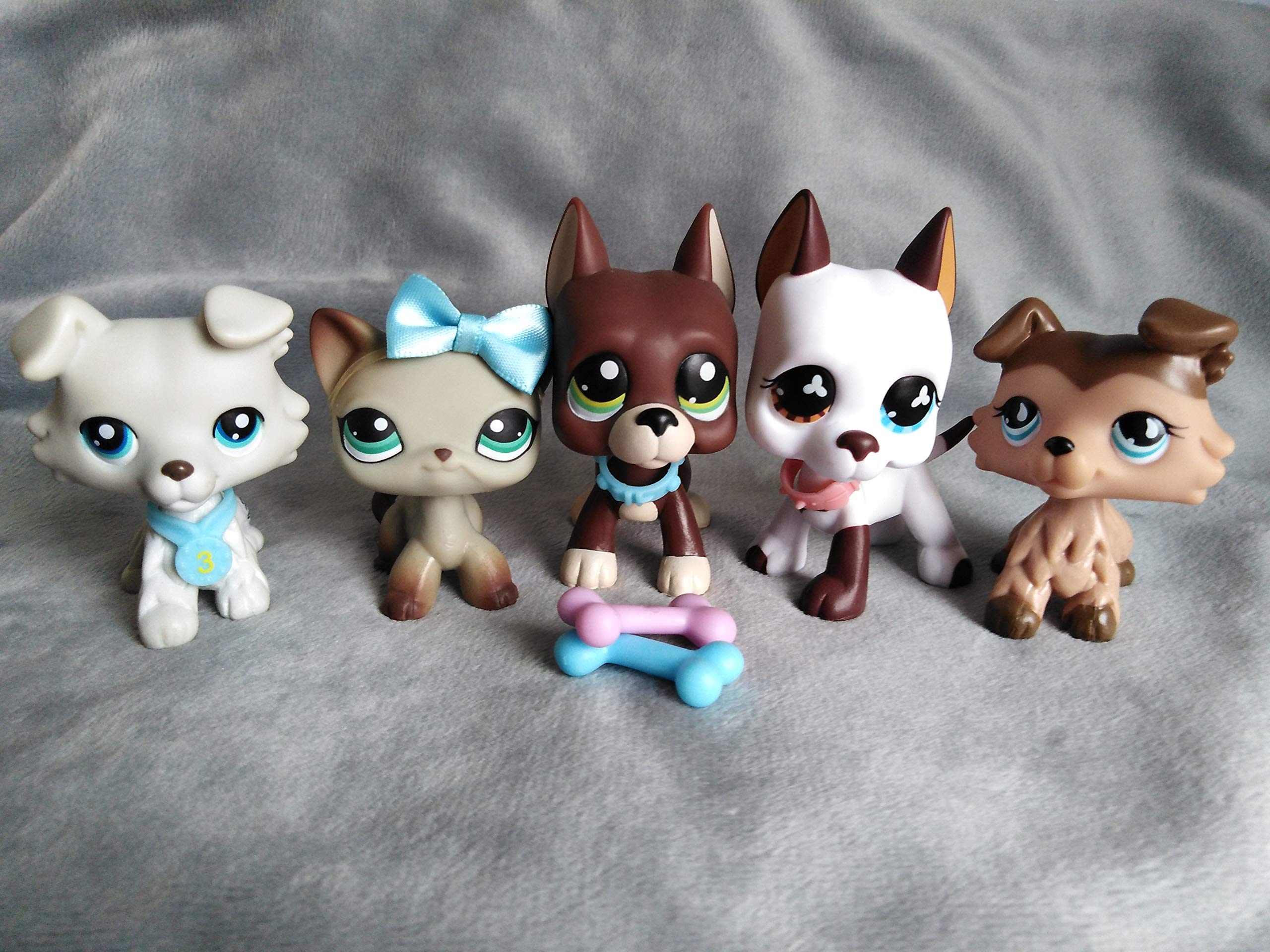 Emilys Doll lps Pets 5pcs lps Short Hair Cat Great Dane Dog Collie #1519#57#391#363#893 Magnet Foot Clear Peg with lps Accessries lo Kids Gift