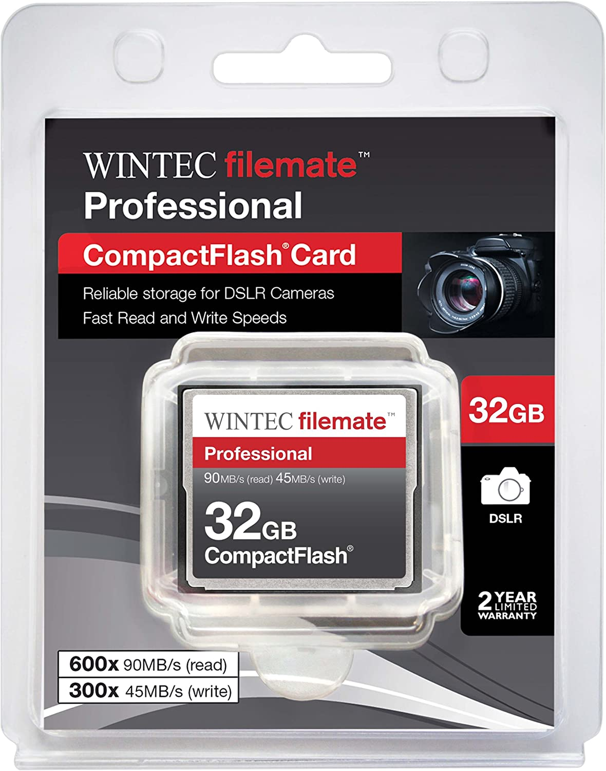 Blazing Fast 600X Card with all in one Hot Deals 4 Less Card Reader and Life Time Warranty. 32GB Professional CF Memory Card for Nikon D300S Cameras