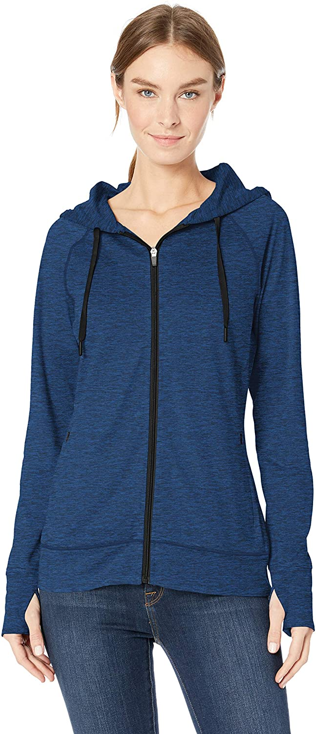 Amazon Essentials Women's Brushed Tech Stretch Full-Zip Hoodie
