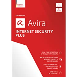 Avira Internet Security Plus 2018   1 Device   3 Year   Download [Online Code]