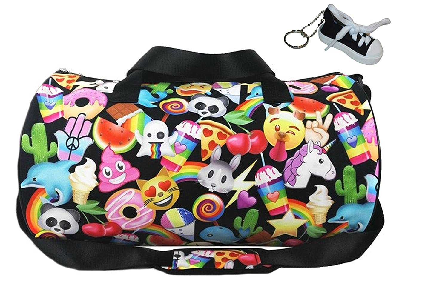 Emoji Nation Sporty Duffle Bag & Keychain Multi-pack, Back to School, Sports Top Trenz b106111