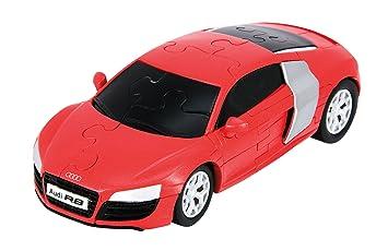 Amazoncom Audi R V Plastic D Assembly Puzzle Car Red Color - Audi car 3d games