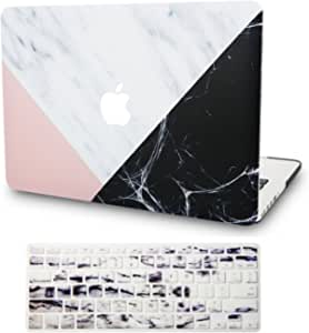 Italian Leather Hard Shell Cover A2289//A2251//A2159//A1989//A1706//A1708 Touch Bar Black Leather KECC Laptop Case for MacBook Pro 13 2020//2019//2018//2017//2016