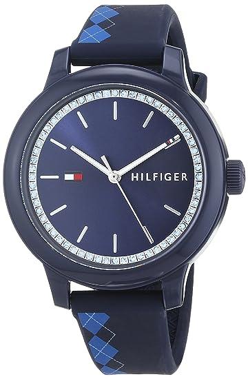 6be09cc56e0f Tommy Hilfiger Reloj Análogo clásico para Mujer de Cuarzo con Correa en  Silicona 1781814  Amazon.es  Relojes
