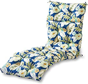 Greendale Home Fashions AZ4804-MARLOW Magnolia Floral 72 x 22-inch Outdoor Chaise Lounge Cushion