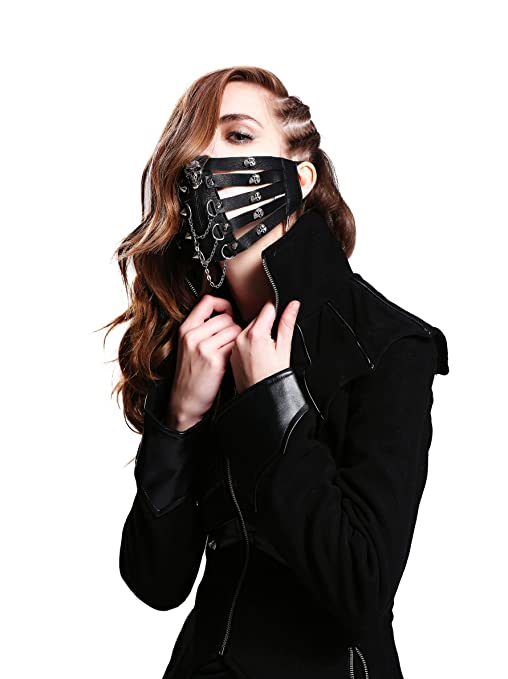 Amazon.com: Steampunk Motorcycle Biker Ice Hockey Cycling Winter Face Mask Masquerade Masks: Clothing