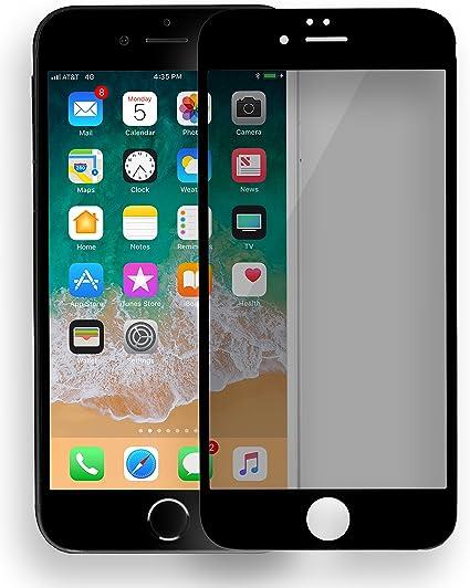 Mygadget Pellicola Privacy Per Iphone 6 6s Vetro Temperato Full 9h Screen Protector Curved Amazon It Elettronica