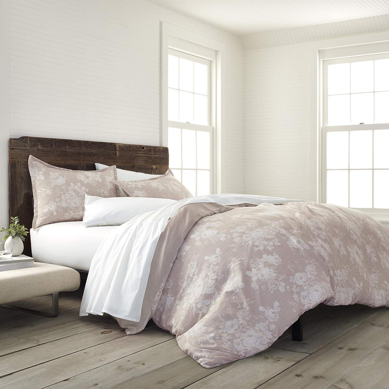 EcoPure 100/% Organic Cotton Wash Sienna Comforter Set Twin Linen