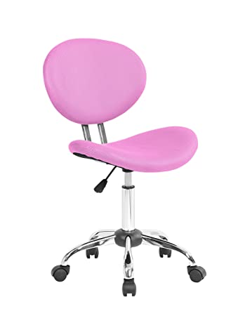 MODERN Armless Adjustable Computer Mesh Office Desk Chair Pink