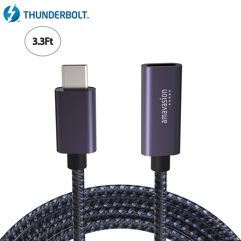 Cable de extensión USB-C macho a hembra,cargador USB C 3.1 Thunderbolt 3,cable extensor de sincronización de datos de audio/vídeo para Mac, Macbook Pro,Nintendo Switch, HUB,Notebook,Samsung Galaxy