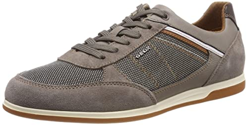 fe2764e0ac4 Amazon.com   Geox Renan Suede and Textile Sneakers   Shoes
