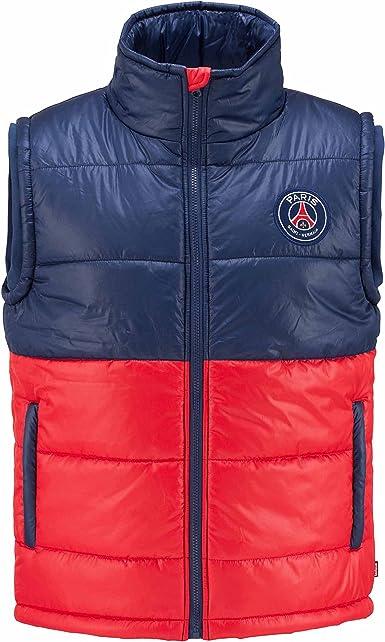 Collection officielle PARIS SAINT GERMAIN Taille enfant gar/çon Doudoune sans manche PSG