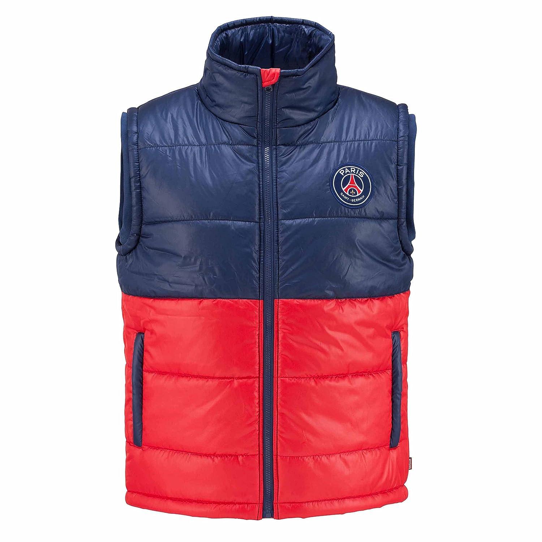 5f2dd48e8d75c PARIS SAINT GERMAIN Doudoune sans manche PSG - Collection officielle Taille  enfant garçon 4 ans  Amazon.fr  Sports et Loisirs