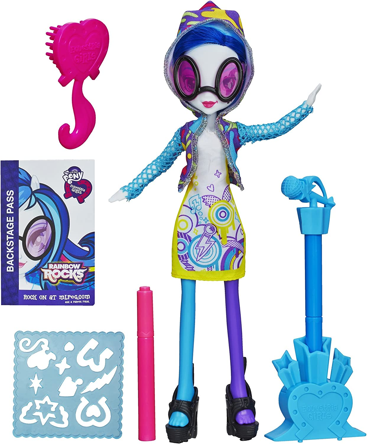 My Little Pony Equestria Girls DJ PON-3 Doll With Markers and Microphone