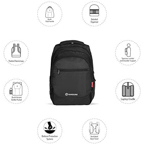 8b1a030ce6 Harissons Bags Stud Executive Laptop Backpack for Men   Women  Amazon.in   Bags