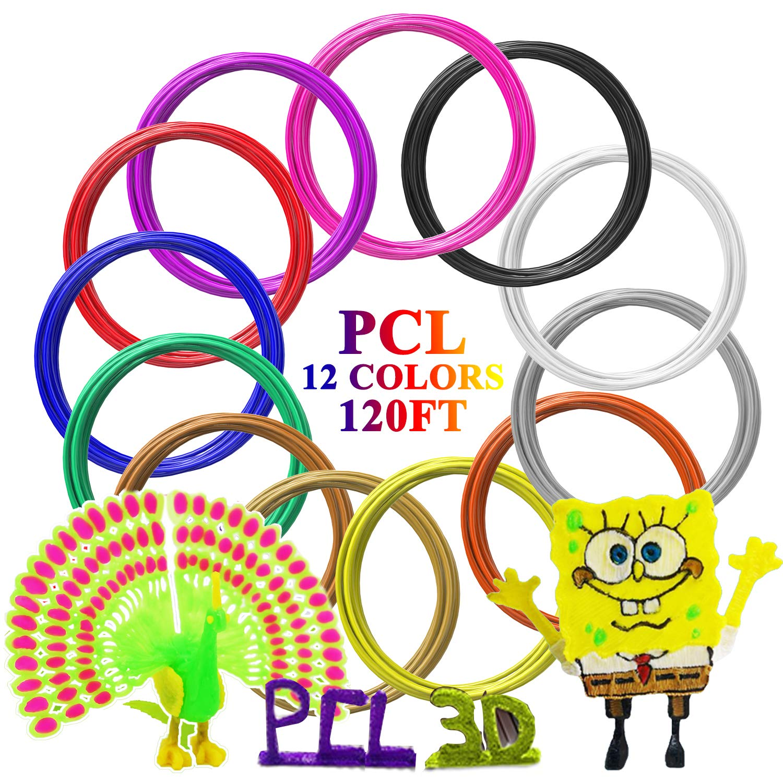 3d Pen 3d Printer Filament Abs Filament Pack of 12 Different Colors High-precision Diameter Filament