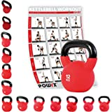 Kettlebell hierro fundido con revestimiento de neopreno 4 kg, 6 kg, 8 kg, 10 kg, 12 kg, 14 kg, 16 kg, 18 kg, 20 kg - Ideal para la práctica del entrenamiento funcional y del potenciamiento muscular tanto en tu propia casa como en el gimnasio - Pesas rusas (12 kg)