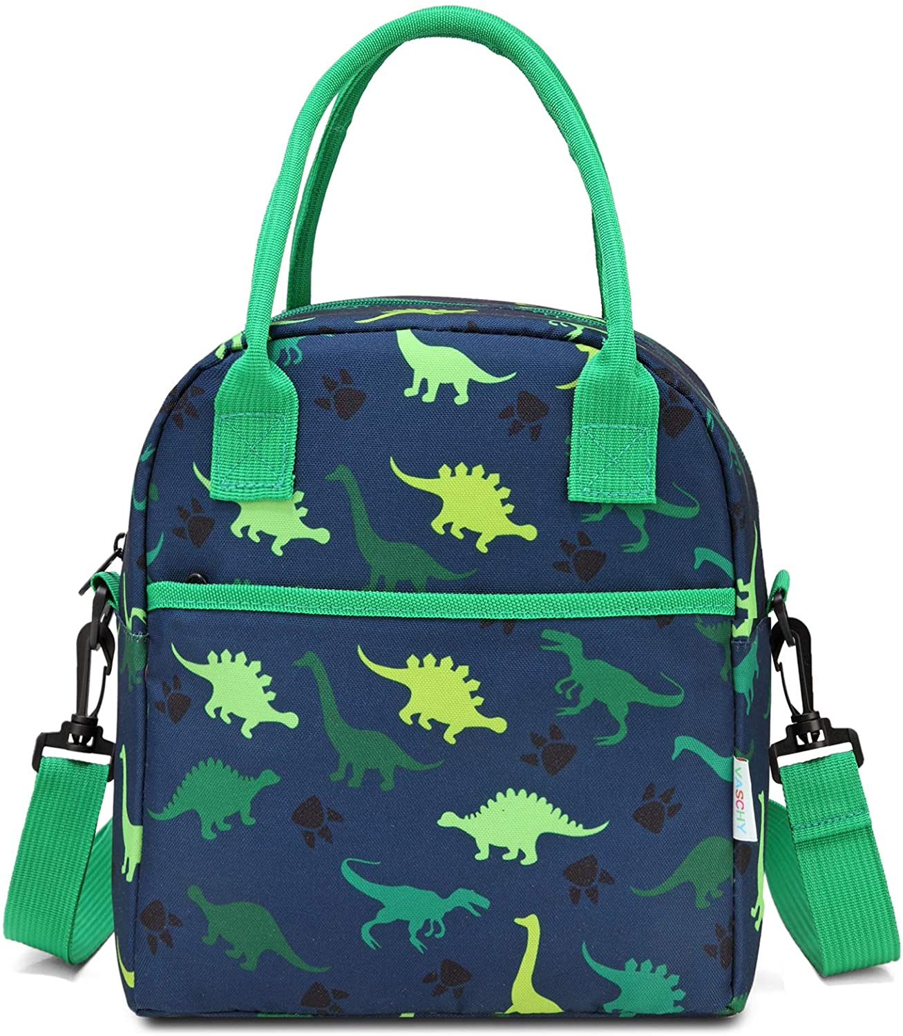 Lunch Box Bag for Kids,VASCHY InsulatedLightweight Lunch Box Tote for Toddler Boys and Girls School Daycare Kindergarten Dinosaur