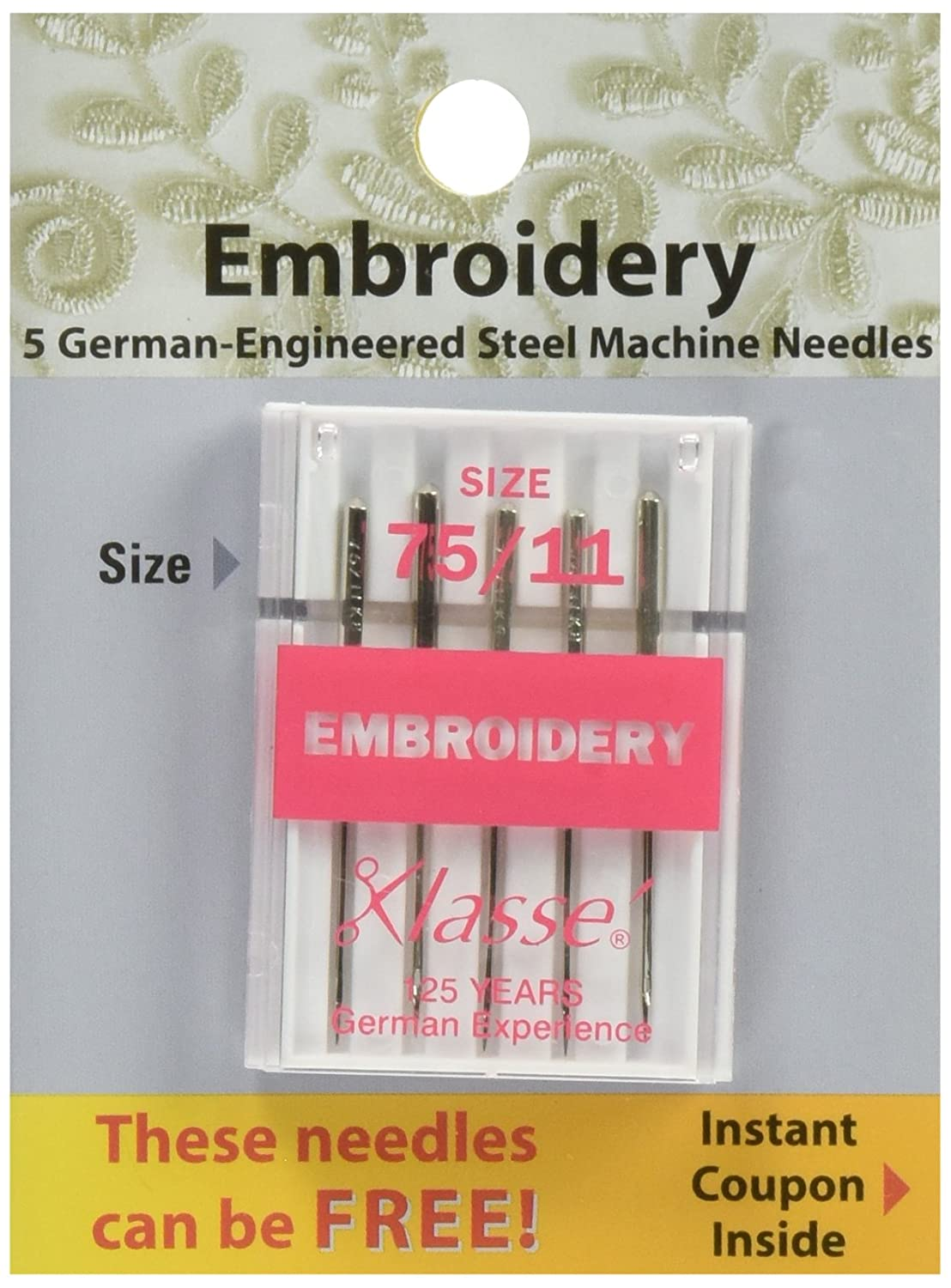 Tacony Corporation Klasse Embroidery Machine Needles-90/14 5/Pkg Notions - In Network A5108-9014